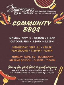 Community BBQ - Duchesnay @ Nbisiing Secondary School