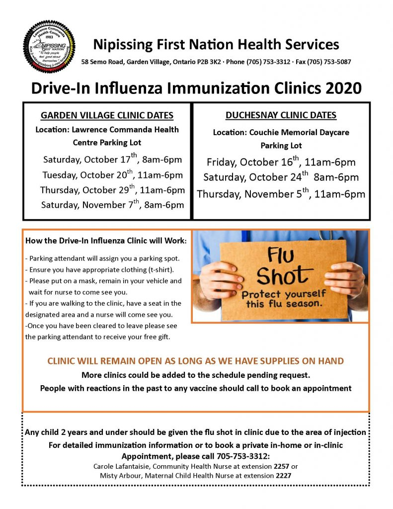 Drive-in Flu Clinic @ Health Centre Parking Lot